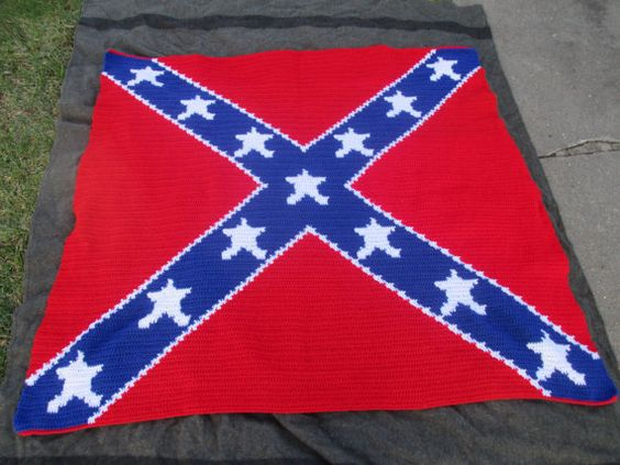 crochet flags crochet shaleina and more rebel flags hand made flags ...