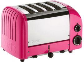 Dualit Classic Vario AWS Chilli Pink 4 Slot Toaster