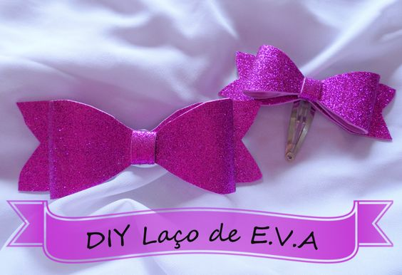 ONLY INSPIRATIONS: DIY laço de E.V.A!!