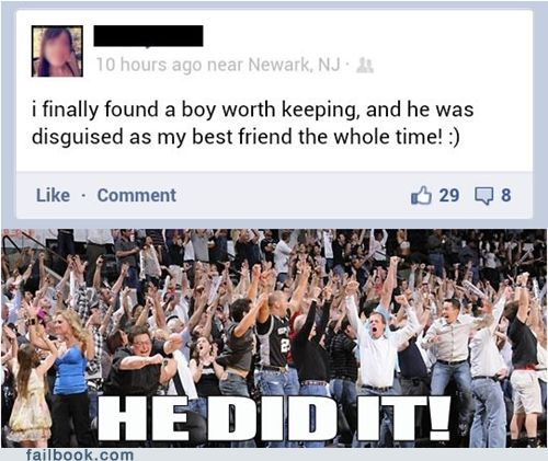 Unfriendzoned! Good for him!