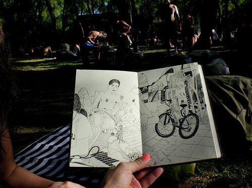 Sketchbook (Moleskine Japanese Album) Powerpaola (La Isla, Rosario)
