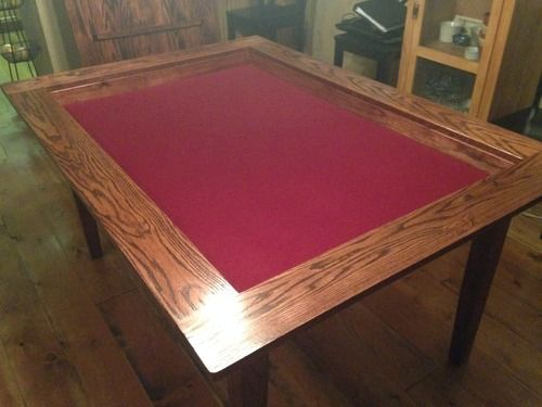 This Is The Nicest DIY Board Game Table Iu0027ve Seen But I Wish It Had Cup  Holders. This Guy Gives Sketch Up Plans And Pdf Plans | Woodworking |  Pinterest ...