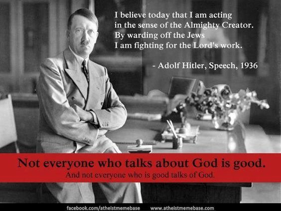 Image result for hitler quote: Lord God give us strength