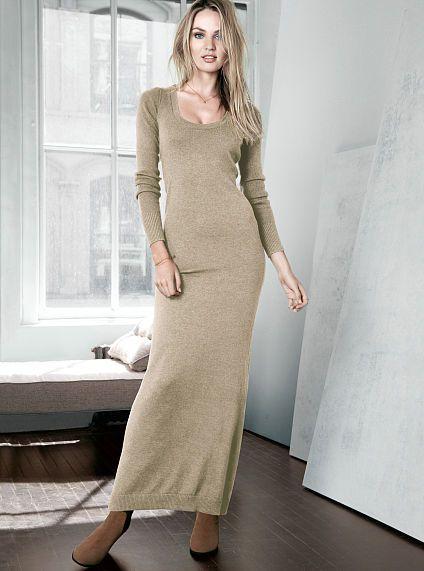 Knit Maxi Dress A Kiss of Cashmere -VictoriaSecret - Fall &amp- Winter ...