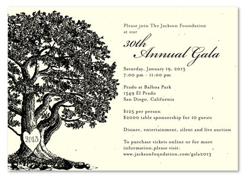 gala invitation wording | Centennial: Invitation Templates ...