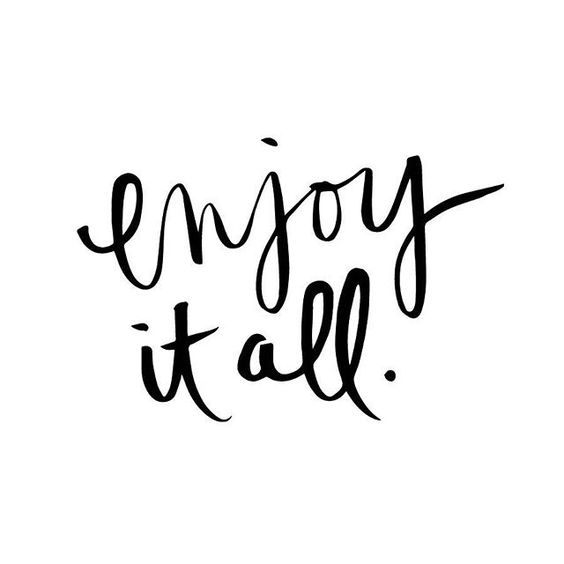I hope I never forget to just enjoy it all, all the time. Life's too short not to. #thesalvostravels #handlettering