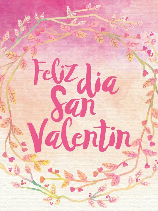 Tarjeta San Valentín para imprimir gratis