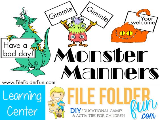 Manners Monsters And Download Games On Pinterest