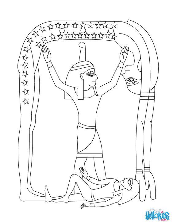 egyptian mythology coloring pages - photo#24