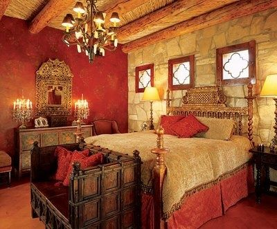 Rustic red bedroom ideas pinterest red bedrooms for Spanish bedroom decor
