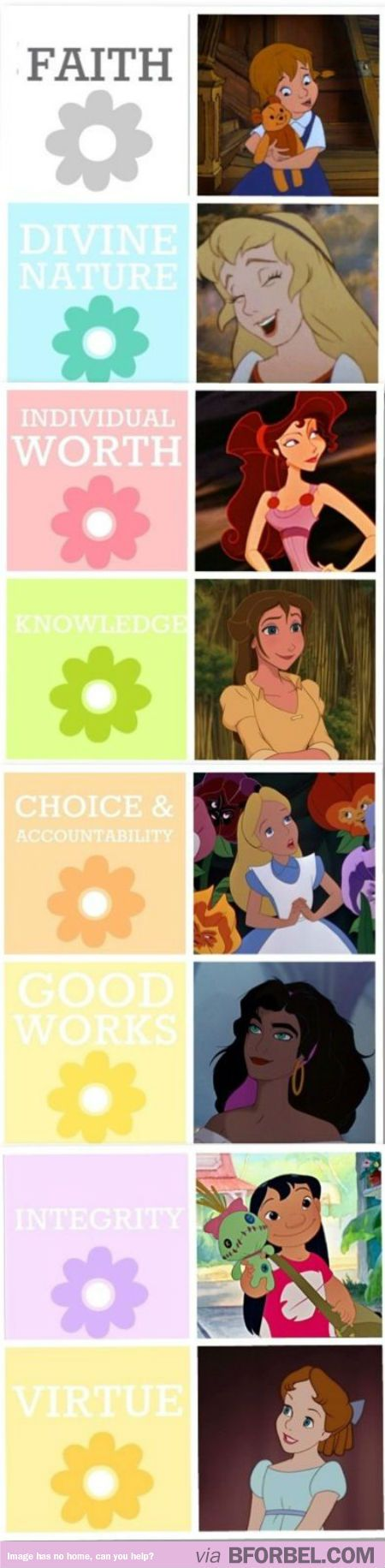 8 Disney Girls And What They Teach Us…- The LDS young women values