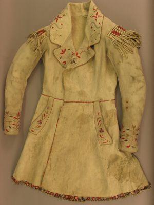 Coat of European cut made of buckskin and porcupine quills (1830): 1830S 1840S, Porcupine Quillz, European Coat, Quill Work, Quill Stuff, American Coats, Coat Cut, Native Coats