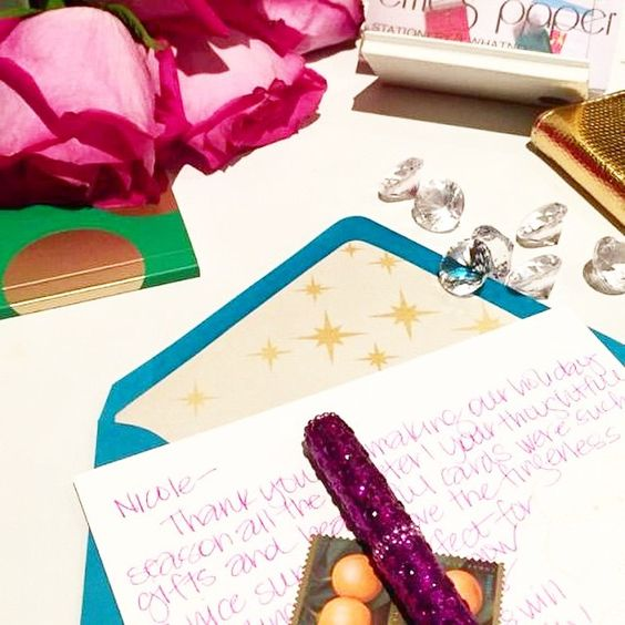 Jotting down notes to friends our #zodiac stationery! Don't you just love sending #snailmail?!