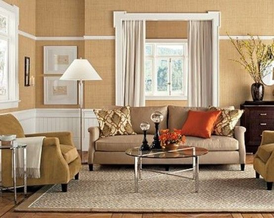 beige sofa in living room | ... Beige Living Room: interesting ...