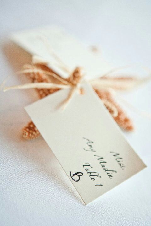 Beach wedding Starfish table place cards