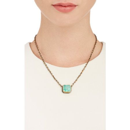 Judy Geib Colombian Emerald, Gold & Silver Earth Echo Necklace at Barneys.com