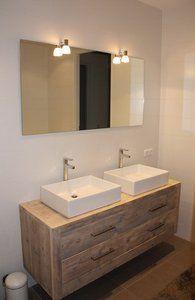 Zwevend badkamermeubel model patricia badkamer pinterest modellen met en lampen - Badkamer meubel model ...