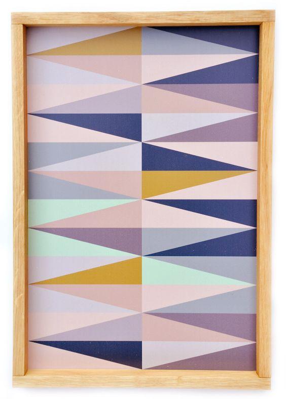 spear print tray   ferm living for leif: Spear Print, Tray Leif, Art Idea, Quilt Patterns, Print Tray, Geometric Design