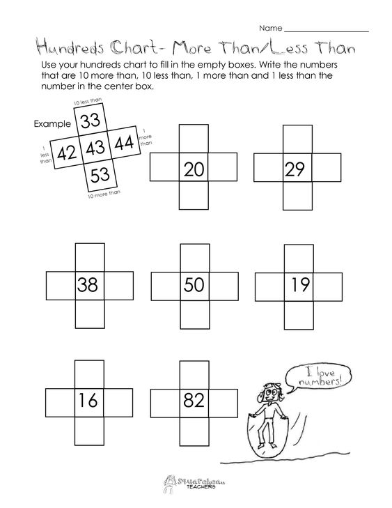 math worksheet : squarehead teachers 10 more than 10 less than hundreds chart  : Jump Math Worksheets