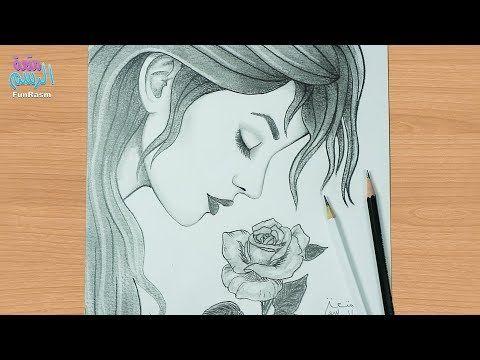طريقة رسم وجه بنت من الجانب تشم وردة بالرصاص للمبتدئين Youtube Art Journal Inspiration Art Drawings Art