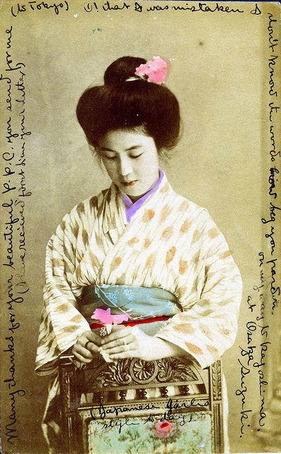 Japanese Girls Style 1906 With Images Japanese Art Japanese Geisha Japanese Photography