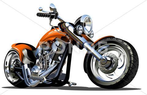 Vector Cartoon Motorbike Royalty Free 50015978 Motorcycle Illustration Motorbike Illustration Motorcycle Harley