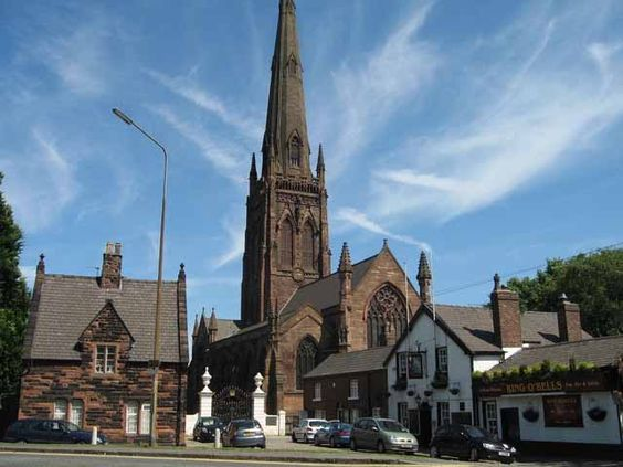St Elphin's Church, Warrington has one of the highest spires in the country