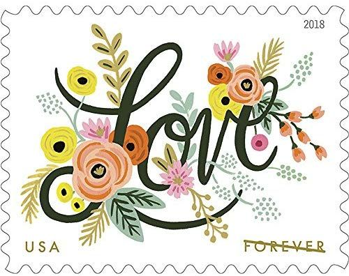 Amazon Com Usps Love Flourishes Forever Postage Stamps Sheet Of 20 Office Products Wedding Stamp Wedding Postage Stamps Wedding Postage