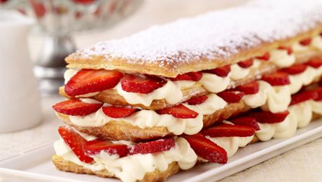 Strawberry Millefeuilles - My French Country Home, French Living - Sharon Santoni: