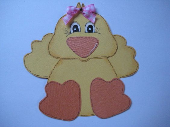 Handmade Easter Chick Embellishment by LOVE2STAMP4U on Etsy, $3.99