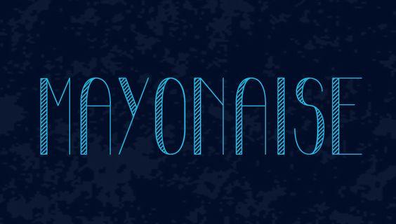 mayonaise free font
