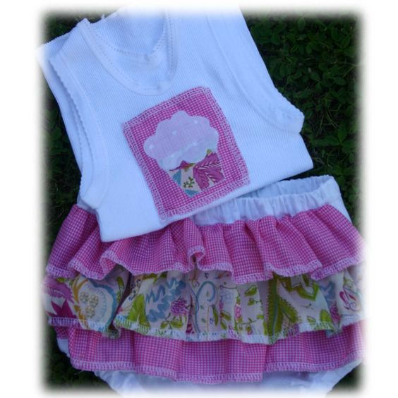 Frilly pants with matching singlet. made by lizzyann@fairley.id.au
