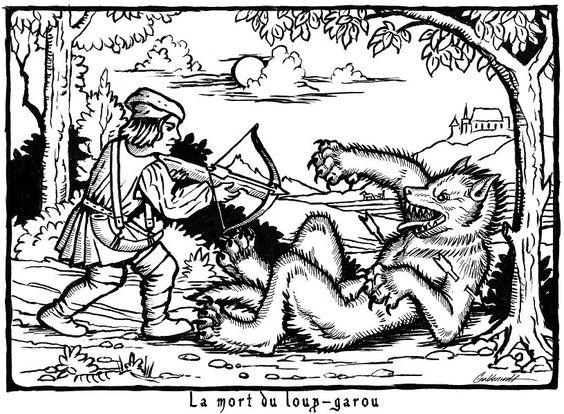 De weerwolf, of wolf-man komt uit de Europese folklore. In het Frans ook wel bekend als loup-garou. Eigenlijk werden de verhalen later pas bekend, maar er zijn wel kleine aanwijzingen te vinden van verhalen rond (of voor) 1200.