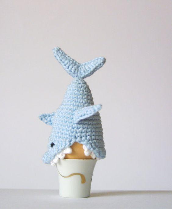 Whale Shark Amigurumi : Crochet Shark Egg Cozy, PDF Pattern, Instant Download ...