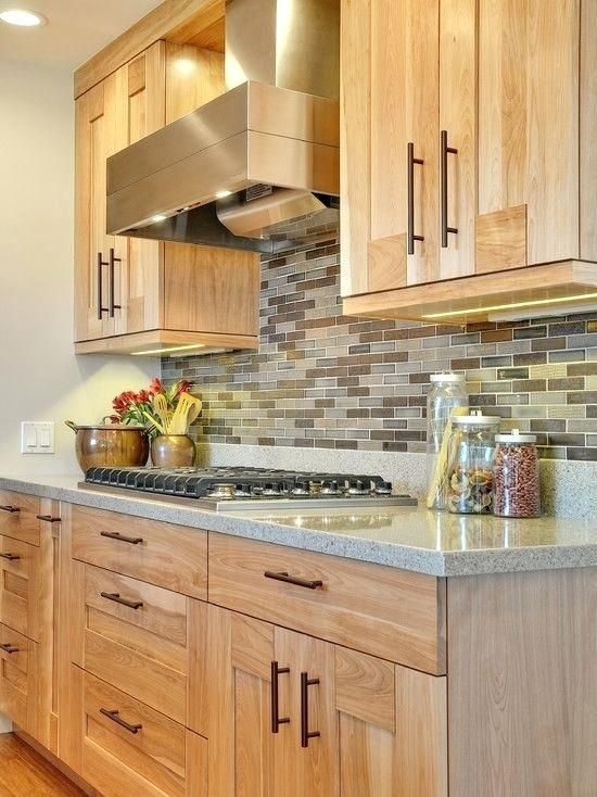 Light Brown Cabinets Contemporary Kitchen Birch Cabinet Design Pictures Remodel Decor And Ideas White Ca Birch Cabinets Contemporary Kitchen Kitchen Renovation