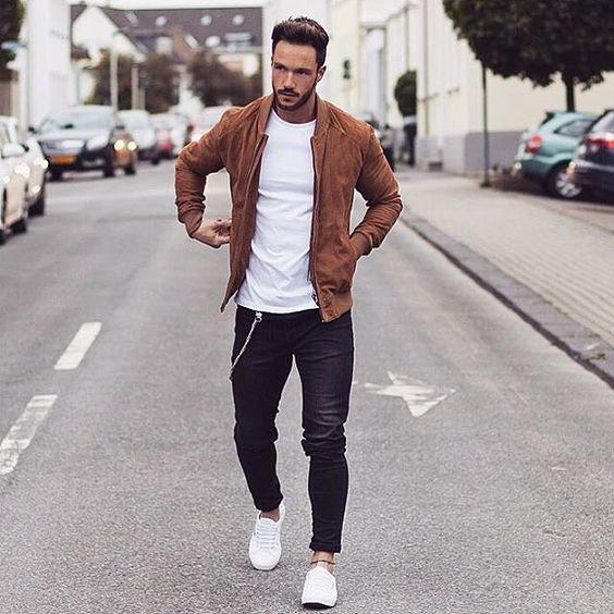 Lederjacken stehen jedem Mann! #EuropaPassage #EuropaPassageHamburg #Outfit #fashion #Mode #streetstyle
