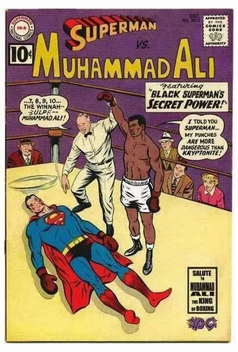 Image result for muhammad ali vs superman comic