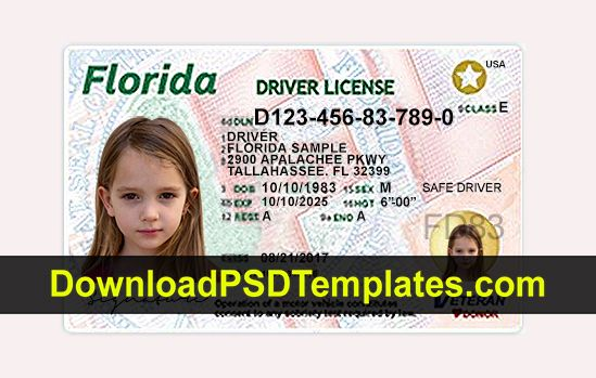Florida Driver License Psd Fl New Updated Template Drivers
