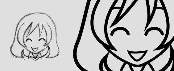 Rascunho e desenho final no Illustrator