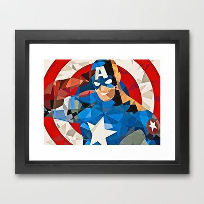 Marvel Superhero The First Avenger Framed Art Print