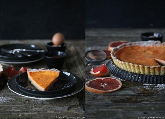 Tina's Tausendschön: Mit allen Geschmackssinnen! Salty Macadamia Grapefruit Tarte