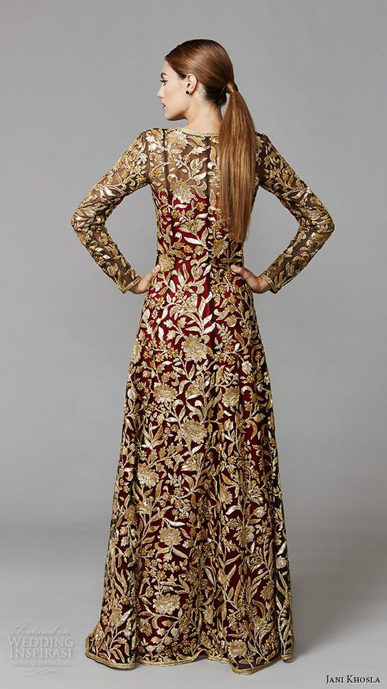 jani khosla international debut collection sleeve ForLong Sleeve Indian Wedding Dresses