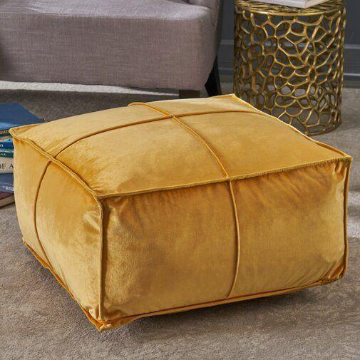 Mariya 24 Velvet Square Pouf Ottoman Pouf Ottoman Square Pouf Ottoman Beautiful Furniture Pieces