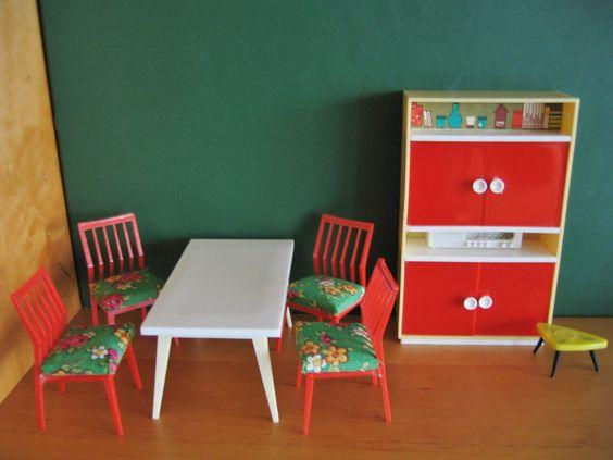 Vero Möbel DDR für Puppenhaus,Puppenstube, Esszimmer 60er Jahre - vintage möbel küche