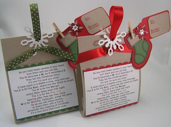 Christmas m&m; treat bag and poem