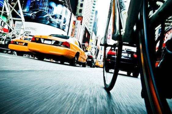 New York City Streets Photography from Bicycle