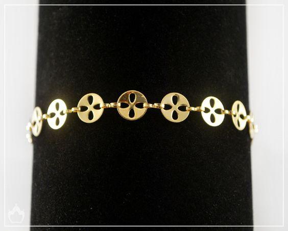 Pulseira Circle Dourada - R$22,00  Rhyca Acessórios  Coleção Fatto a Mano