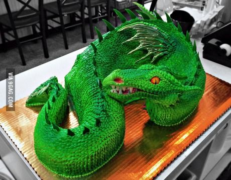 Oh my god, seriously awesome dragon cake