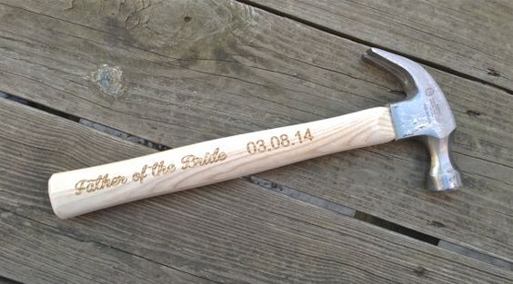 Wedding Gift Hammer : Of The BRIDE - Personalized Engraved Hammer Gift For Dad Wedding Gift ...
