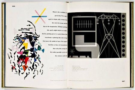 "Bradbury Thompson - Double page pour l'entreprise ""Westvaco Inspirations"" (1950)."